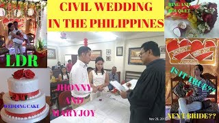 CIVIL WEDDING IN THE PHILIPPINES/LONG DISTANCE RELATIONSHIP GOT MARRIED // QB VLOGS