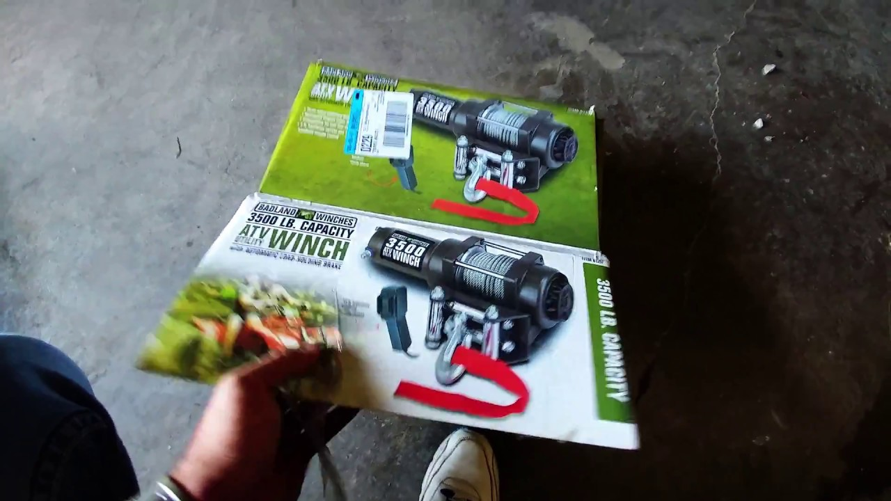 Harbor Freight Winch 3500 # unbox