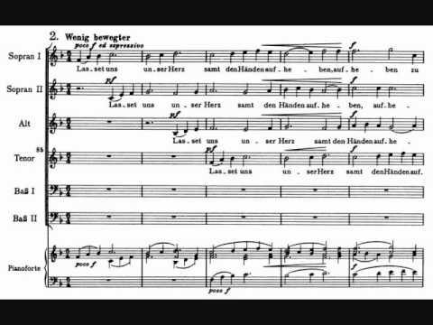 Brahms - Warum ist das Licht gegeben, Motet, Op 74 No 1.wmv