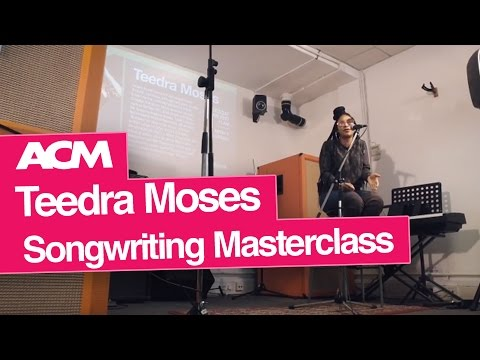 Songwriter Teedra Moses Masterclass at ACM London