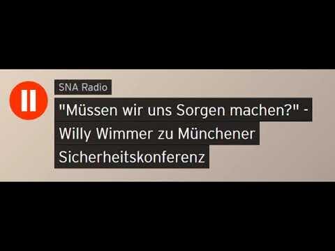 Willy Wimmer zu Münchener Sicherheitskonferenz (Sputniknews)