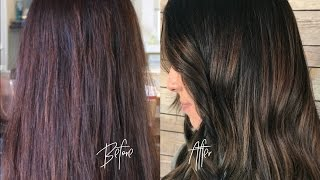 BRUNETTE BALAYAGE|HAIR PAINTING