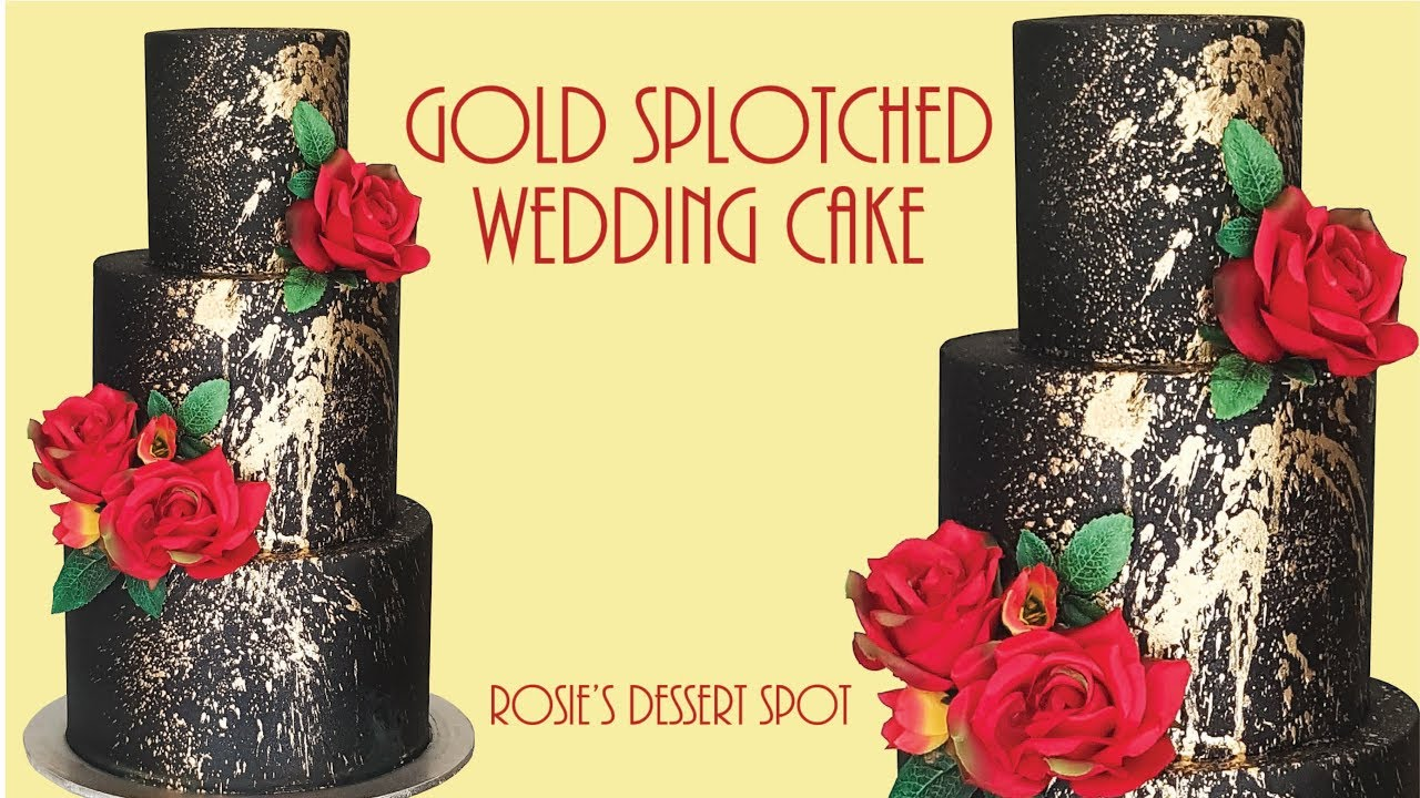Easiest Ever 3 tier Black and Gold Cake- Rosie\'s Dessert Spot - YouTube