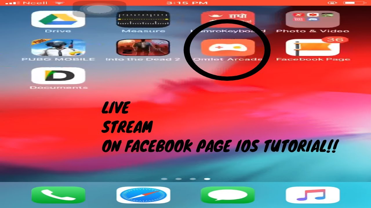 How to Record or Live Stream on Facebook Page with Omlet Arcade || IOS ||  Andriod
