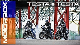 Kawasaki Z650 vs Yamaha MT-07 vs Honda CB650F   Duello tra medie giappo