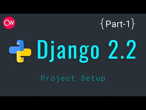 Django-2.2 Part-1 Project Setup Tutorial | By Creative web thumbnail