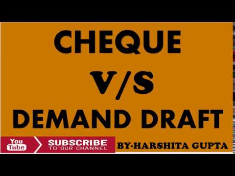 Cheque vs Demand Draft | difference | Interview Preparation