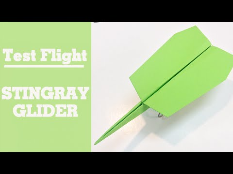 how to make a good paper airplane glider