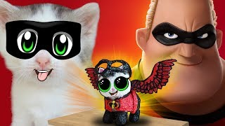 LOL THE INCREDIBLES 2! DOLL LOL CAT BABY and CAT MURKA! INCREDIBLES LOL SURPRISE!