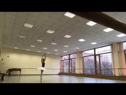Rehearsal with my teacher at Bolshoi Ballet academy— Russia Moscow