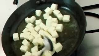 Spicy and tasty chilli paneer # chilli paneer # Easy, tasty and quick chilli paneer