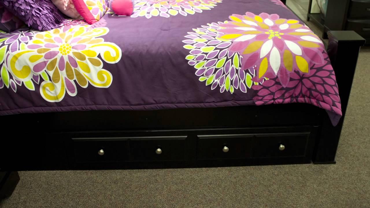 Ashley Shay Bed with Storage  YouTube