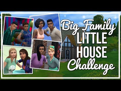 MONEY PWEASE 💸 - PART 18 | BIG FAMILY LITTLE HOUSE CHALLENGE - THE SIMS 4 CHALLENGE