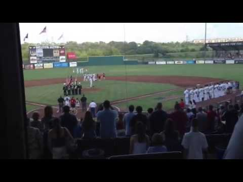 Keith Armstrong sings National Anthem Ft Worth Cats 4th of July