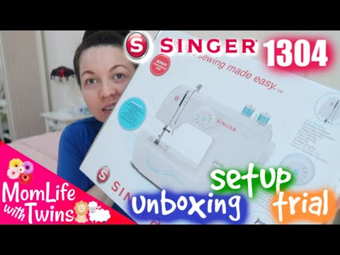 SINGER START 1304 SEWING MACHINE UNBOXING