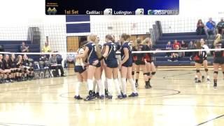 High School Volleyball Districts- 11/01/16- Cadillac Vs. Ludington- 1st