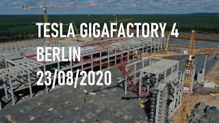 Tesla Gigafactory 4 Berlin - halls are growing | 23/08/2020 | DJI Mavic 2 Pro