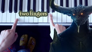 War of the Spark / Official Trailer Song (One finger piano tutorial)