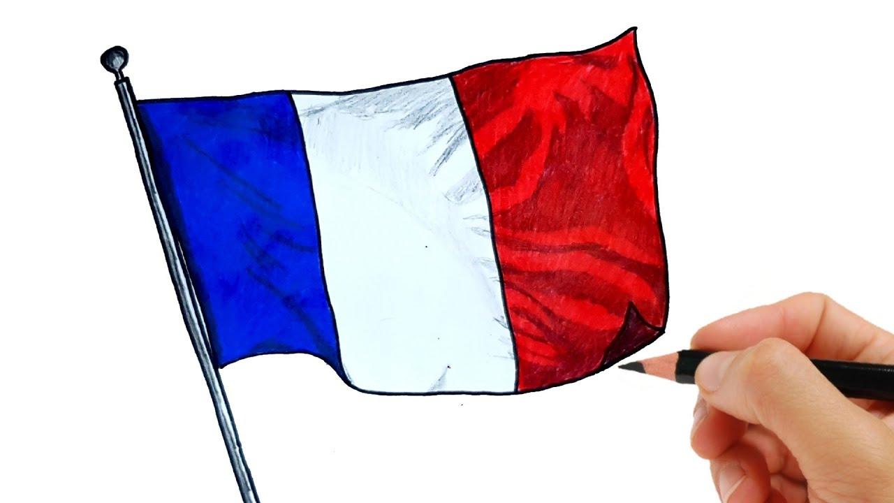Comment Dessiner Le Drapeau De La France How To Draw The France Flag Youtube