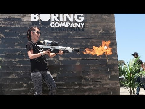 PICKING UP MY *NOT A* FLAMETHROWER FROM THE BORING COMPANY