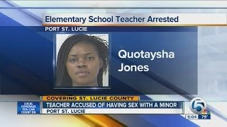 Teacher accused of having sex with a minor