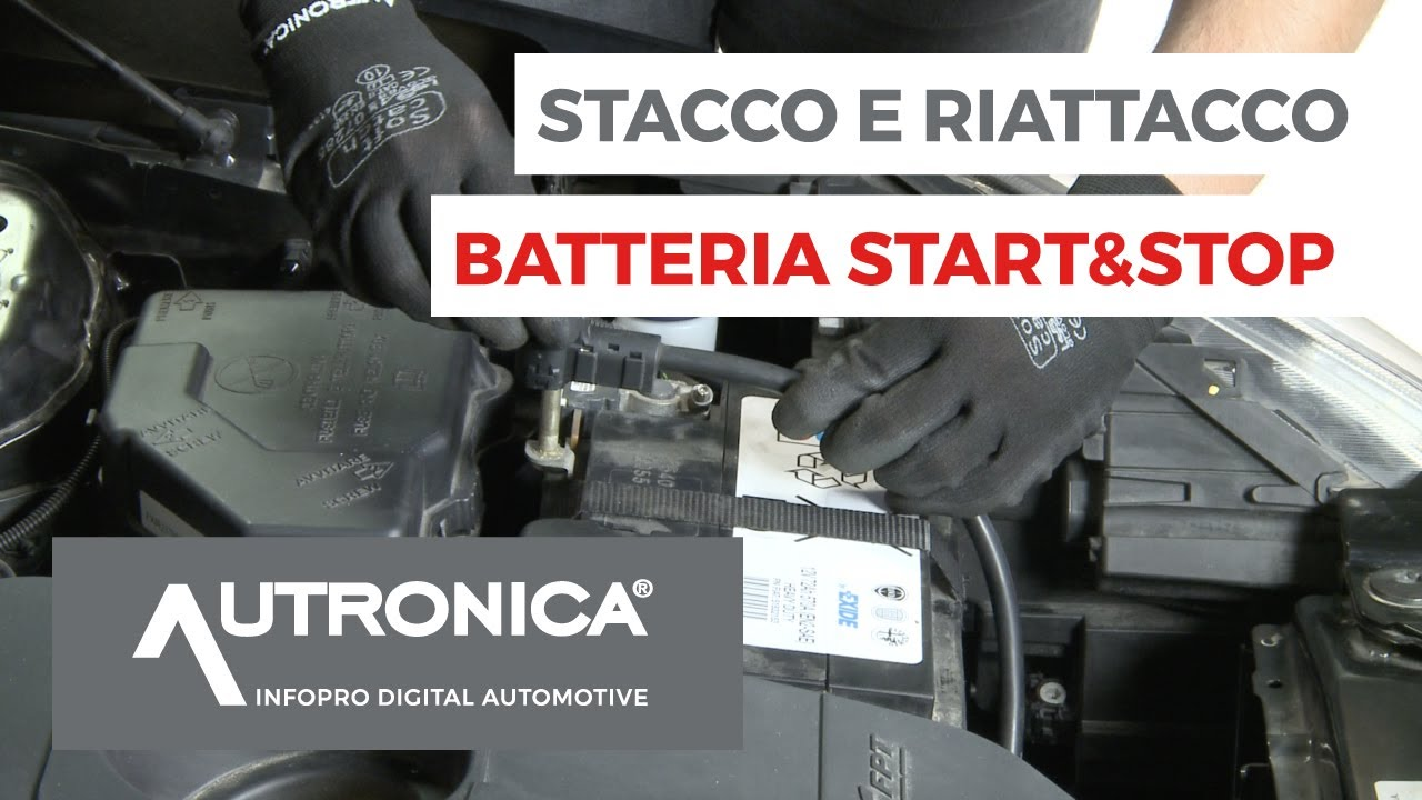 Video Tutorial Stacco E Riattacco Batteria Start Stop Alfa Romeo