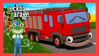Fire Truck For Children | Gecko's Garage | Trucks For Kids