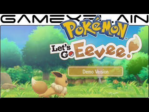 Pokémon Let's Go Eevee - Demo DIRECT FEED Gameplay (Viridian Forest)