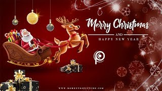 Christmas Banner Merry Christmas New Year 2020 Wallpaper Card Poster Design in Photoshop