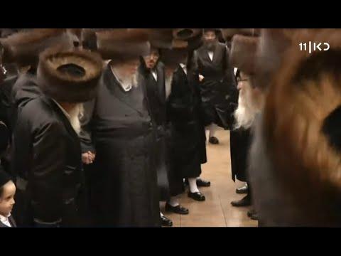 מאות חסידים רוקדים ללא מסכות: תיעוד מתוך חתונת הענק של חסידות בעלז