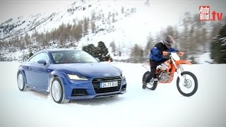 Wintertest Audi TT gegen KTM 500 (2015)