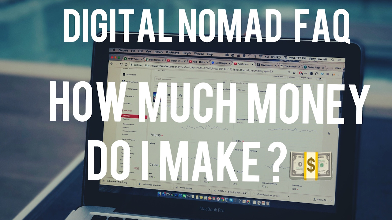 Live Digital Nomad Q&A's ? How Much Do You Make from YouTube? & Amazon FBA Ecommerce &a