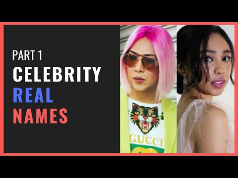 PART 1 - Celebrity Real Names That Will Surprise You | Must Watch: Mga nakakagulat na totoong pangalan ng mga artista. Get to know the real and full names of famous celebrities on the Philippines.  Watch the PART 2 here: https://youtu.be/LPRaGXA2PWg  Comment your ideas on what to feature next on this channel  Don't forget to LIKE, COMMENT and SUBSCRIBE