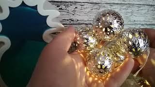 Популярный светильник из Фикс Прайса, очень красивый, обзор гирлянды и покупок!!!