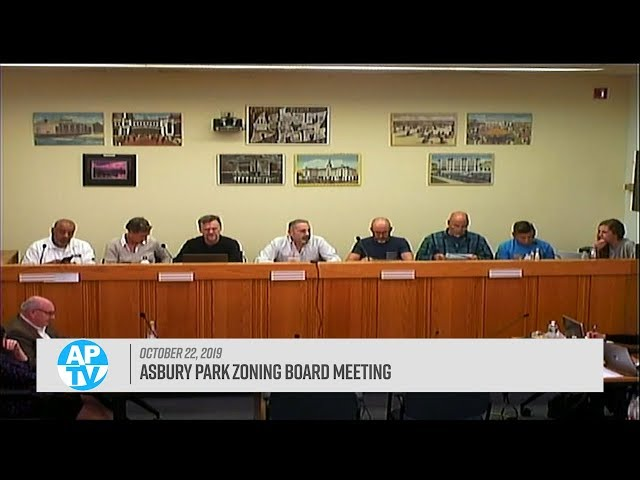 Asbury Park Zoning Board Meeting - October 22, 2019