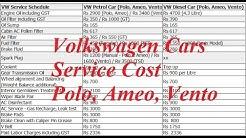 Volkswagen Polo, Ameo, Vento Service Cost Review