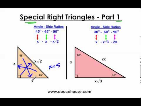 Worksheets Special Right Triangles 30 60 90 Worksheet Answers special right triangles part 1 45 90 and 30 60 youtube 90