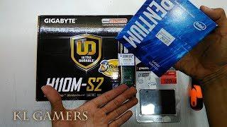 intel Pentium G4560 GIGABYTE H110M-S2 Kingston A400 4GB Budget Desktop