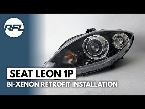 Seat Leon 1P, 2005-2009, Bi-xenon Mini H1 projector installation video