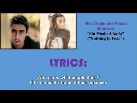 "Sin Miedo a Nada (""Nothing to fear,"" with English Lyrics) - Álex Ubago and Amaia Montero"