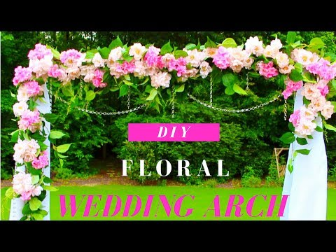 DIY Wedding Arch | DIY Floral & Crystals Wedding Arch (Indoor/Outdoor) thumbnail
