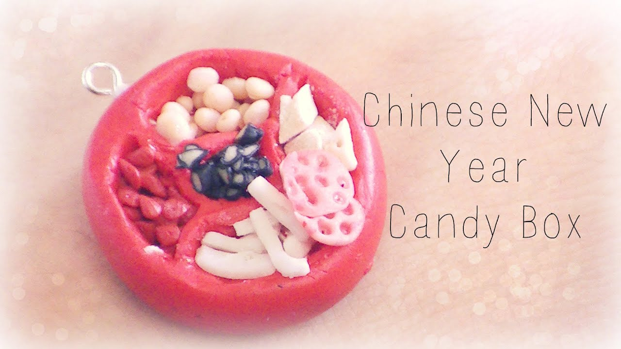 chinese new year candy box polymer clay tutorial - Chinese New Year Candy