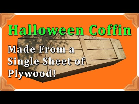 Halloween Coffin - One sheet of plywood