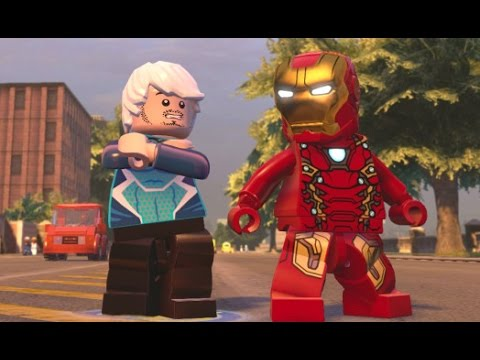 Flying or Superspeed? Quicksilver Vs. Iron Man Race Around Manhattan (LEGO Marvelu0027s Avengers)