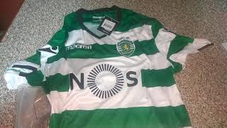bestcheapsoccer.com 17-18 Sporting Lisbon Home Soccer Jersey Shirt Unboxing Review
