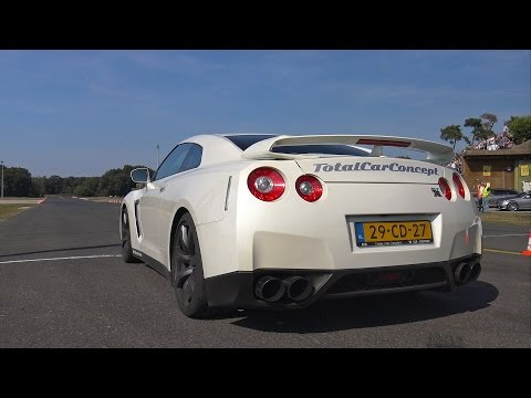 1050HP Nissan GT-R R35 Switzer P800 - Launch Control + Flames!