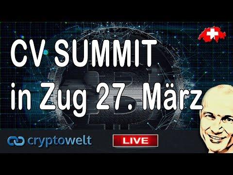 CV Summit 26. / 27.3.2019 in Zug – grosser Blockchain Event im Cryptovalley