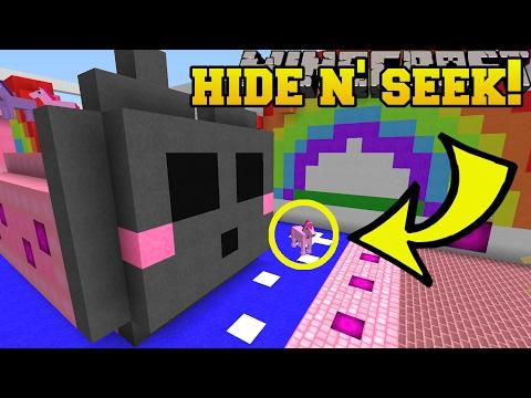 Minecraft: KAWAII ANIMALS HIDE AND SEEK!!  Morph Hide And Seek  Modded MiniGame