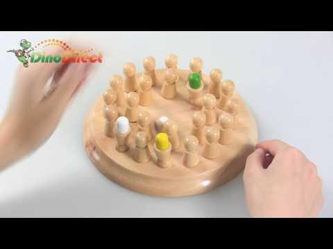 IQ Test Brain Teaser Wooden Chess Game - dinodirect