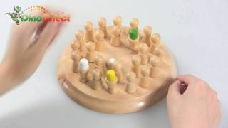 IQ Test Brain Teaser Wooden Chess Game - dinodirect